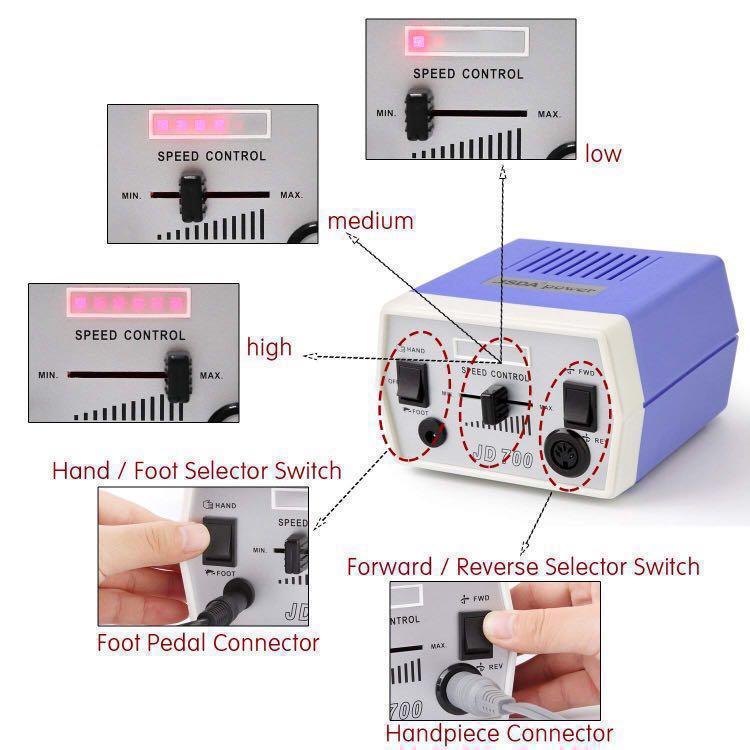 Professional Nail Drill Machine - MAKARTT JD700 (30000RPM)