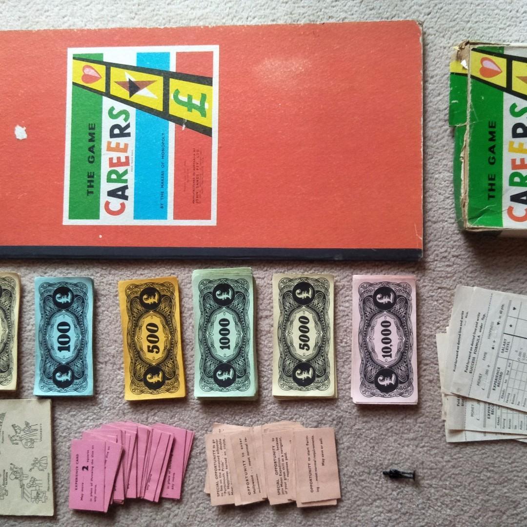 RARE JOHN SANDS CAREERS BOARD GAME