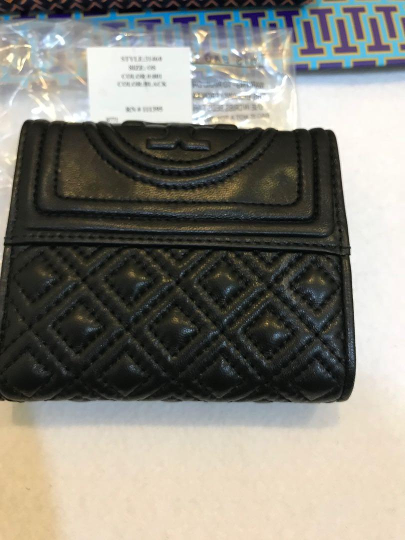 Ready Stock Authentic Tory Burch Fleming wallet triple flod