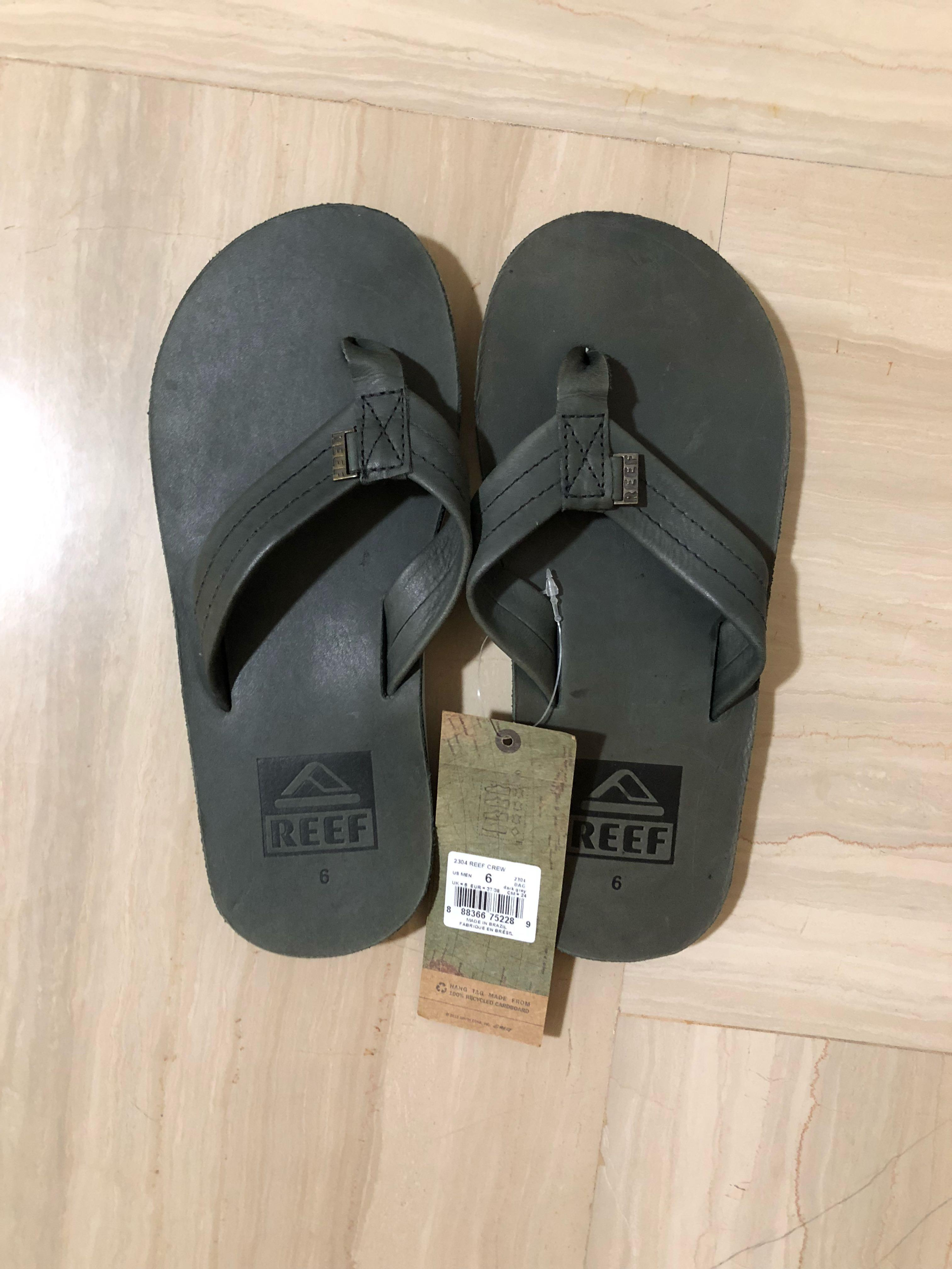 Reef Grey Crew Slipper - New