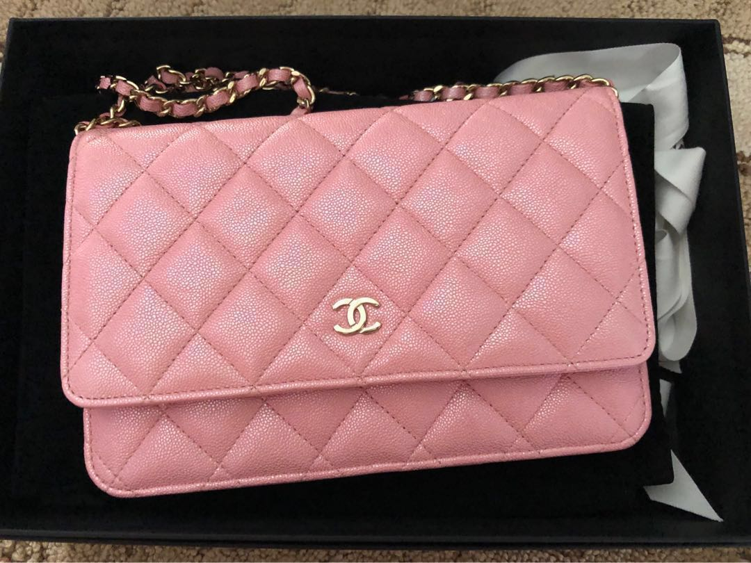 c6f120cb71dc RESERVED] Chanel 19s iridescent pink woc + free base shaper, Luxury ...
