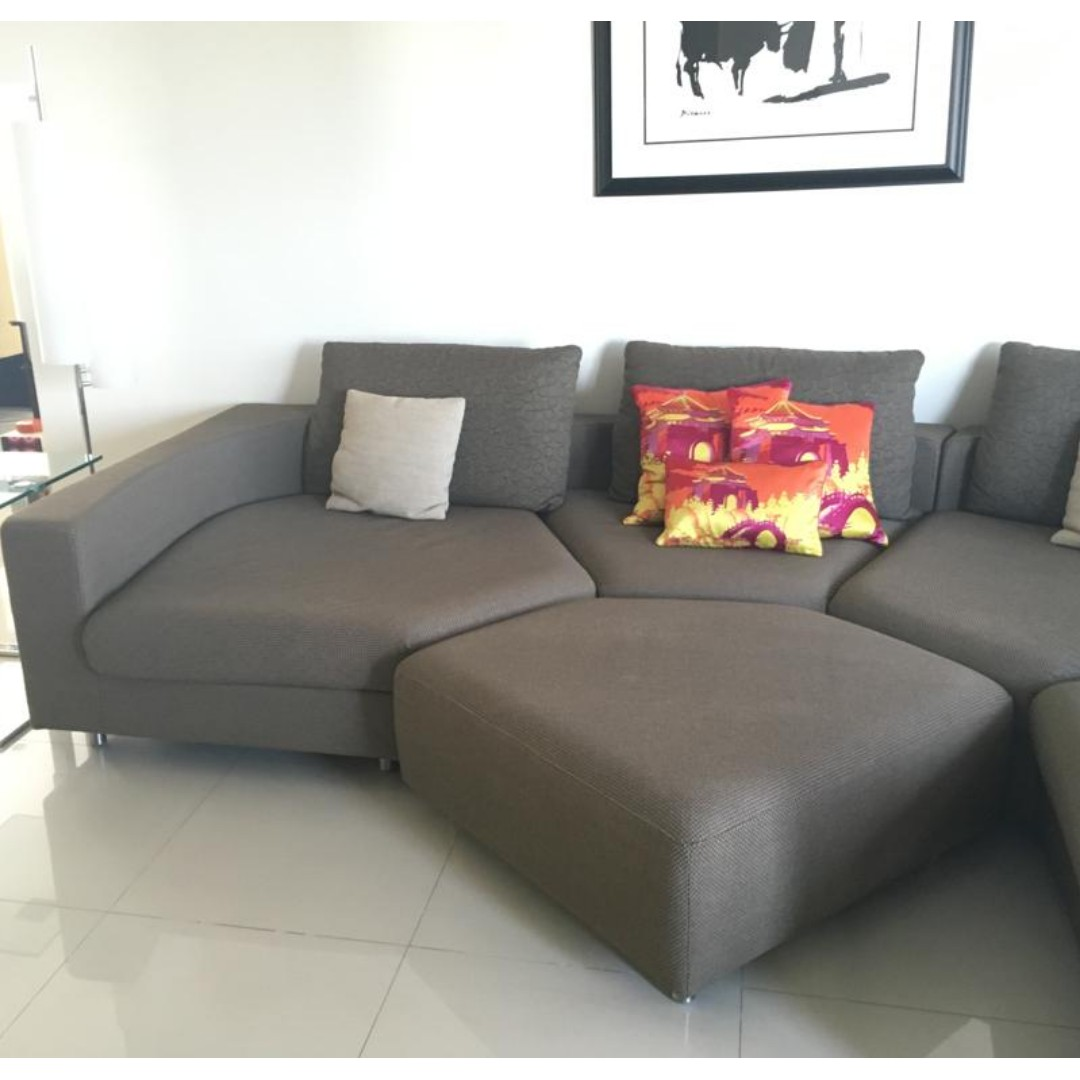 Rolf Benz L Shaped Couch Sofa