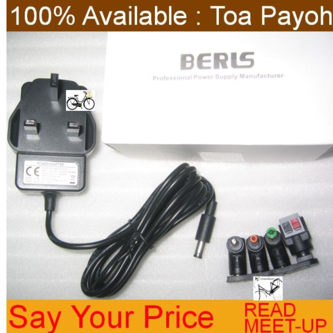 Say Your Price   AC/DC Power Adapter 12V 2000mA with multiple heads