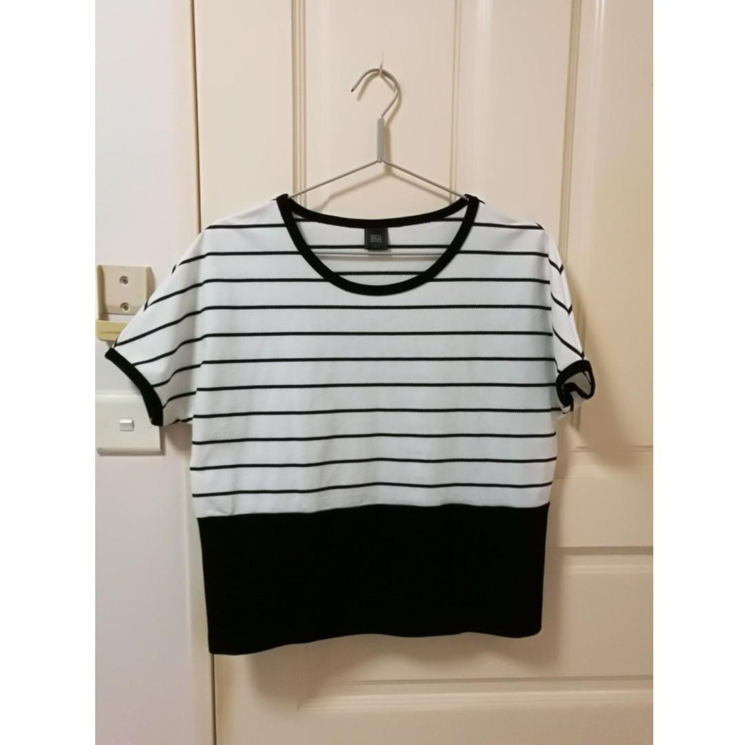 Simple Knitted Stripe Blouse / top