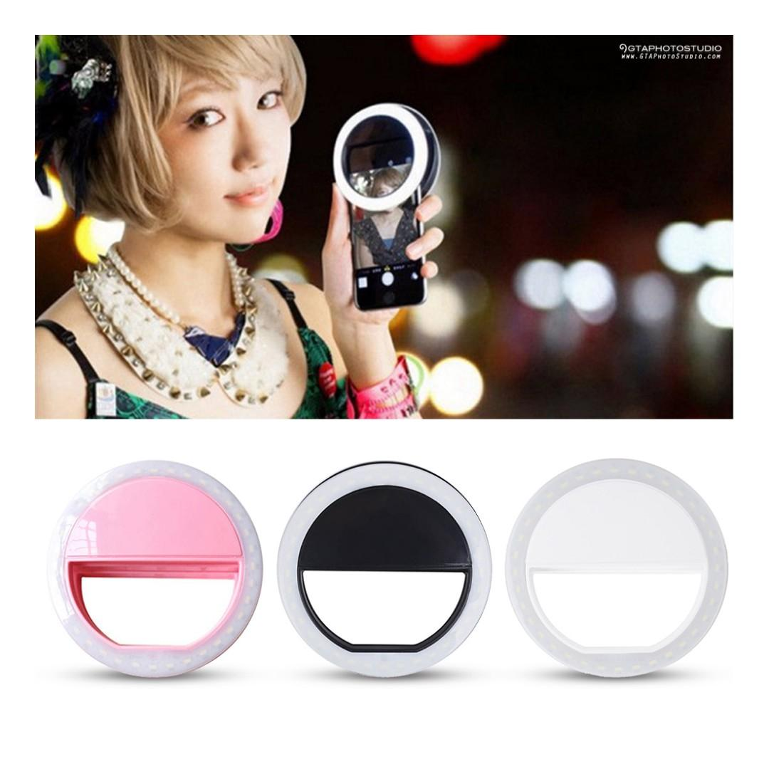 Smartphone Selfie Ring Lights (Various Colours To Choose From) / BRAND NEW!!