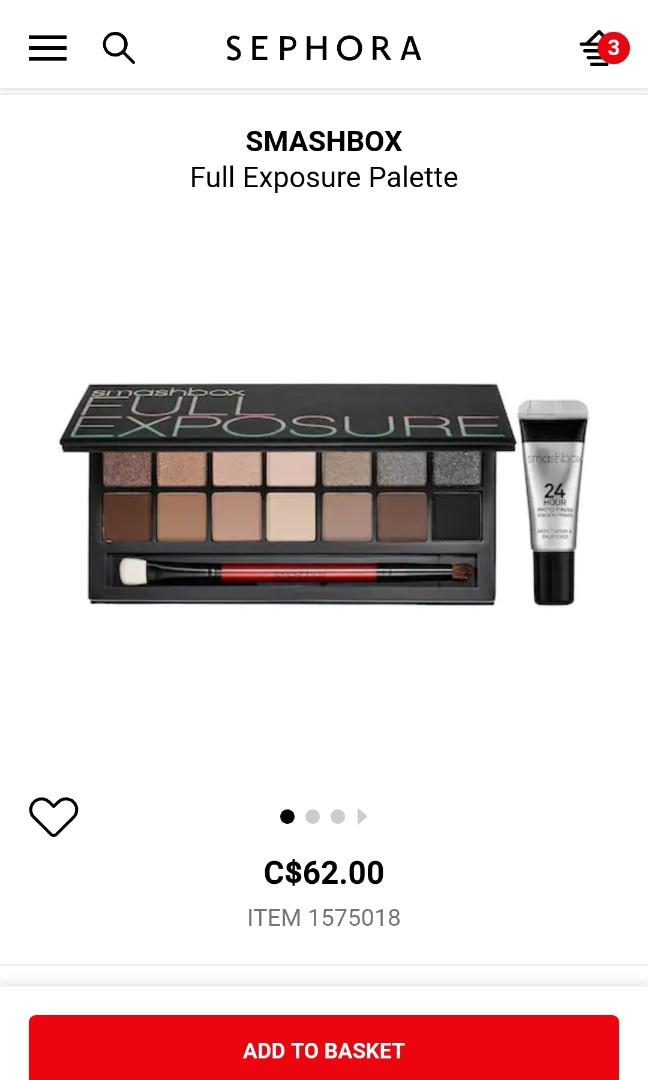 Smashbox Full Exposure Palette - Neutral Eye Shadow Palette