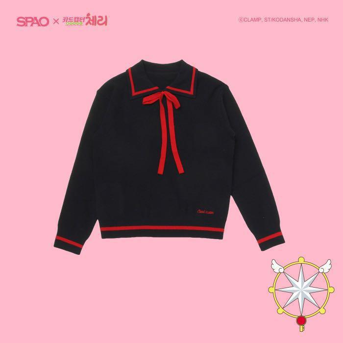 1c770ff77674 SPAO x CARDCAPTOR SAKURA Ribbon Collar Sweater, Women's Fashion, Clothes,  Tops on Carousell