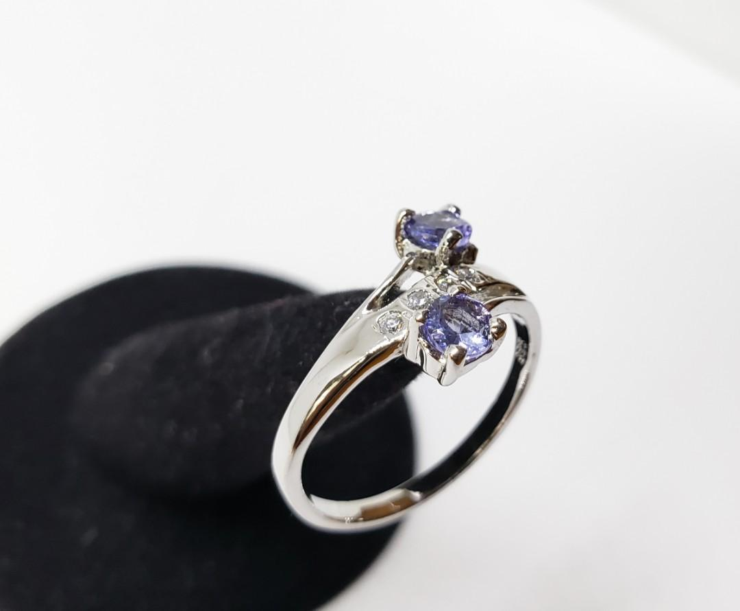 Sparkling Blue Tanzanite ring, 925 sterling silver, bridal ring, engagement ring, promise ring