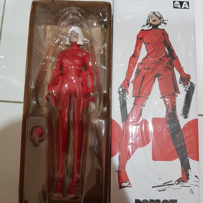 "ThreeA 3AA Toys 1/6 12"" Ashley Wood Lady Sham Red Devil Ver Vinyl Action Figure hot Toys Predator"