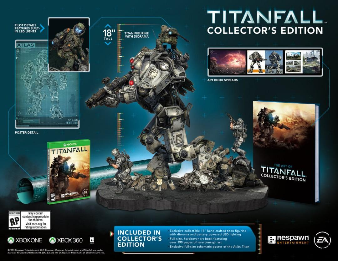 Titanfall Collector's Edition Atlas Titan statue