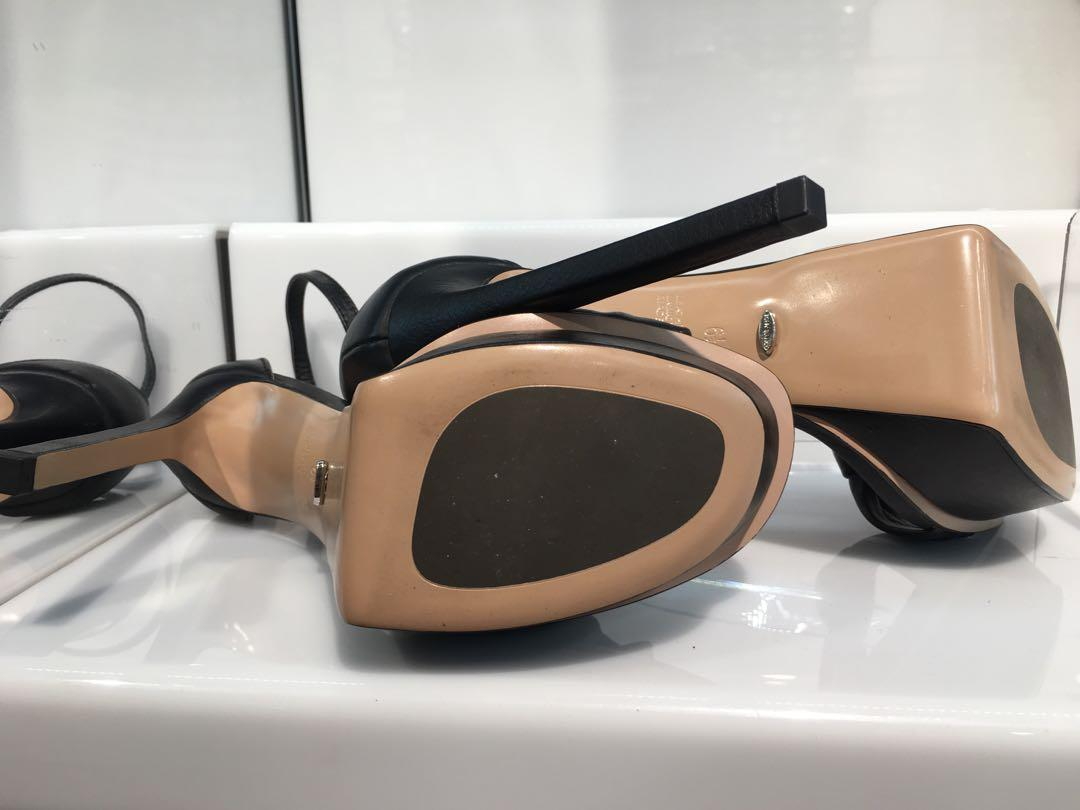 Tony Bianco Chino Black leather platform stiletto 7 $219.95