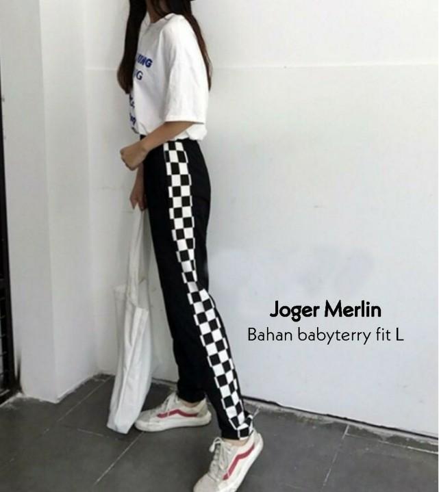 Track Pants jogger checkerboard