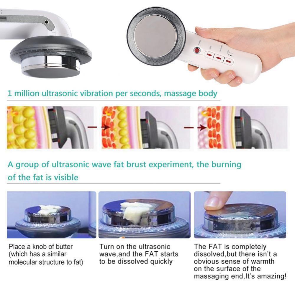 Ultrasonic Cavitation Fat Remover Body Massager Slimming Anti-Cellulite Machine