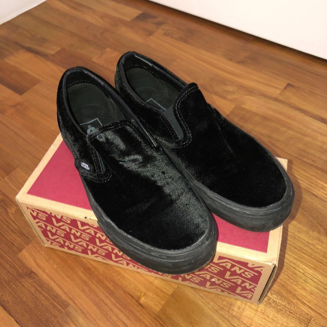 04dd072ad5f4 Vans Black Velvet Classic Slip-on