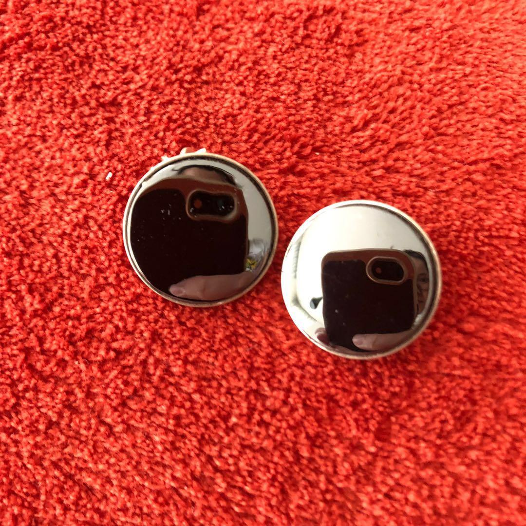 Vintage 835 Silver 1980s Hematite Clip-On Earrings
