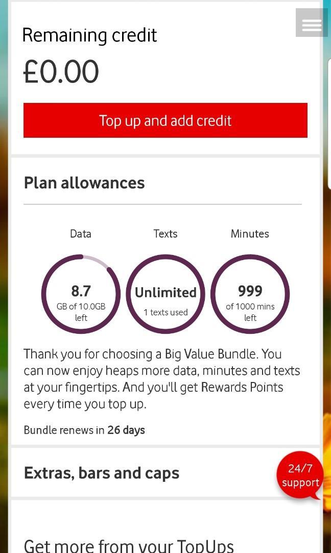 Vodafone Prepaid Europe Data Sim Card, Everything Else on