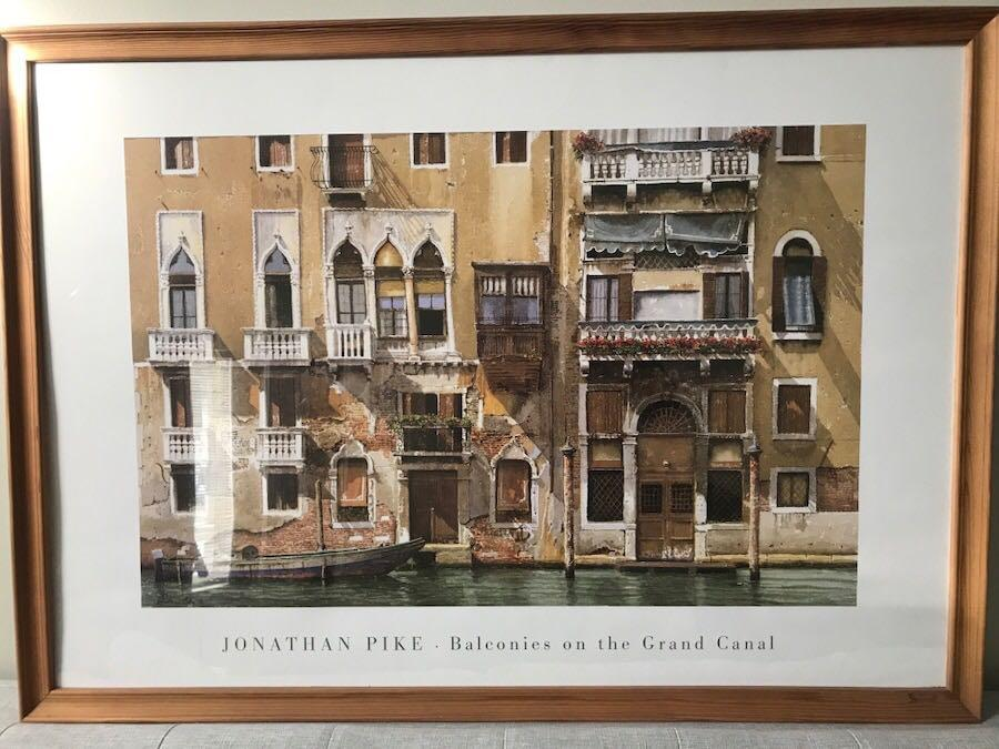 Wall Decor: Framed Painting Brown and white concrete building