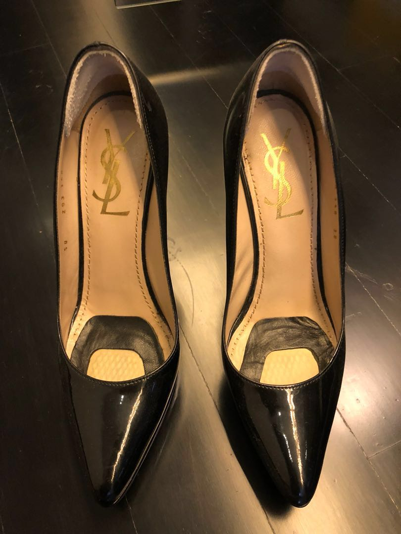 a8923f447 YSL Black Patent Pumps, Women's Fashion, Shoes, Heels on Carousell