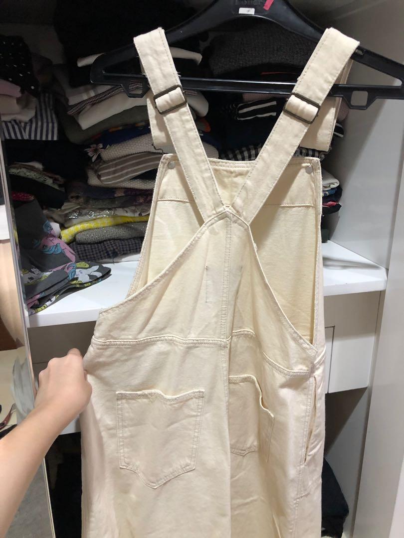 ZARA overall skirt (broken white)
