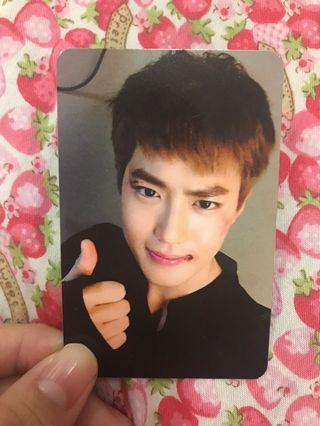 SUHO SING FOR YOU OFFICIAL PHOTOCARD