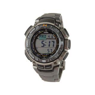 Casio PAG240T-7CR Tough Solar Watch with Titanium Band