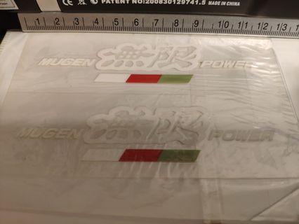 激罕絕版日本無限Mugen Power貼紙(白字)全新