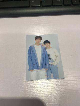 🚚 Vernon & Woozi Seventeen Haru Japan Tour Trading Card