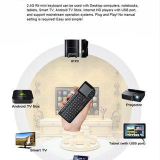 Rii k01v3 Mini Wireless Keyboard Backlit Laser Pointer for Multimedia