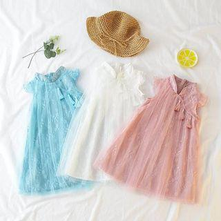 🚚 🌟INSTOCK 🌟Chongsam Girl Dress Party Lace Dress