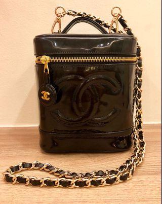 Chanel Patent Leather Vanity Bag