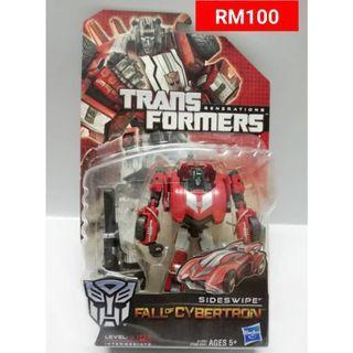Sideswipe Deluxe Class Transformers FOC Fall Of Cybertron RM100