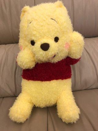 全新 小熊維尼 日本🇯🇵帶回 Winnie the Pooh 正版景品 維尼俏皮吐舌玩偶 娃娃