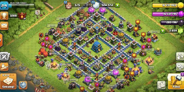 Clash Of Clans akun coc th 12 max