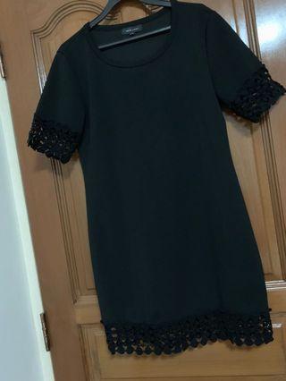Black Lace Dress NEW LOOK 12 NL LBD