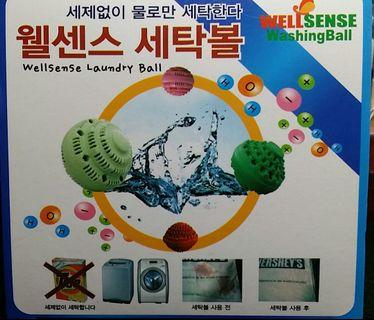 全新8個環保洗衣球 Well sense washing ball 有盒及說明 made in Korea