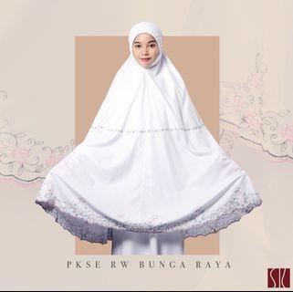 Siti Khadijah Bunga Raya Authentic Telekung
