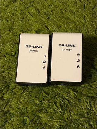 Tp-Link Tl-Pa211Kit Twin-Pack Av200 Mini Multi-Streaming Powerline Adapter
