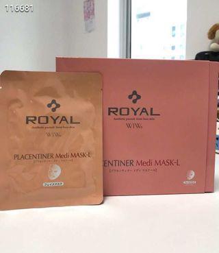 royal 胎盤素面膜25ml x5片