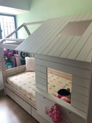 Tavolo Lifetime Low Hut Bed Silversparkle