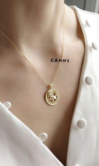 925純銀玫瑰花項鍊