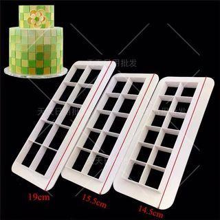 🚚 Square Cutter Cake Fondant Mould