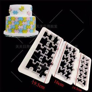 Jigsaw Puzzle Cutter Cake Mould