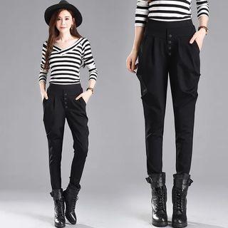 夏季新款韓版哈倫褲長褲顯瘦女西裝褲子