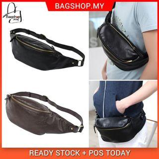 💥NEW💥MC283 RD5 Man Chest / Waist Slim Design Quality Leather Zipper Pouch Bag
