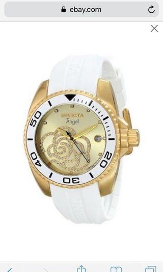 Invicta Limited Edition Women's Angel ILEO488A Watch with White Polyurethane Band