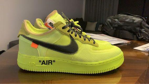 🚚 Off-White Nike Air Force 1 Volt