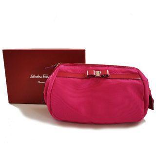 🚚 Salvatore ferragamo 桃紅色化妝包