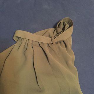 墨綠色五分寬褲