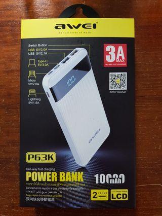 Awei P63K 10000mAh Powerbank