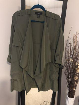 Army green lightweight coat